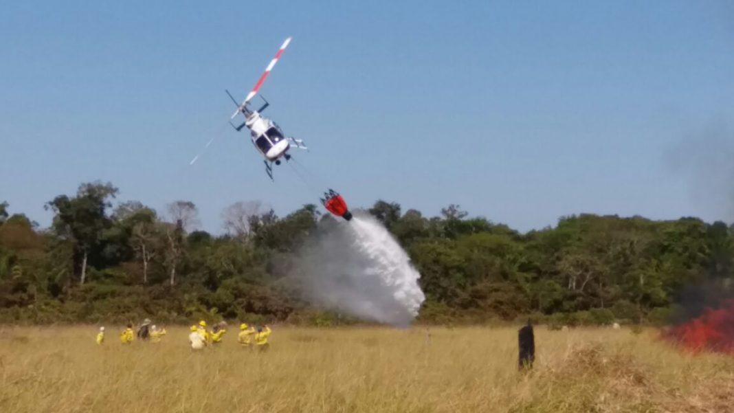 Ibama realiza o 4º Treinamento de Carga Externa e Combate a Incêndios Florestais com Helicópteros. Foto: Divulgação IBAMA.