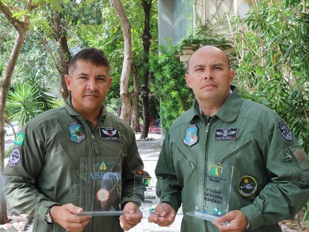 Dr. Eduardo Henrique da UNIFOR/CIOPAer e 2.º SGT PM Edvaldo José Santana Flexa do CIOPAer.