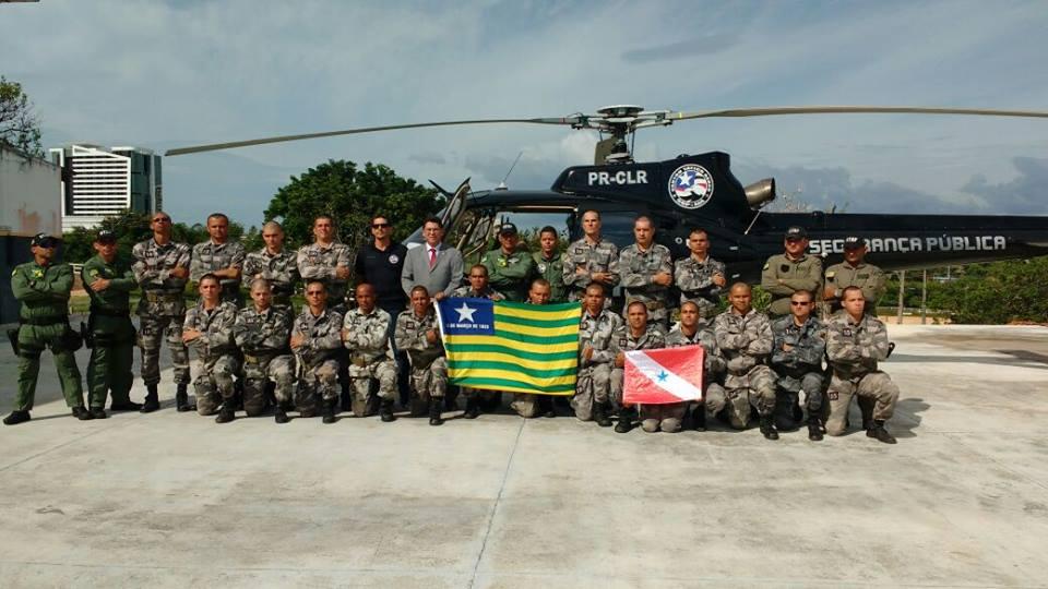 Estágio de Operações Aéreas capacita policiais para o Policiamento Aerotransportado. Foto: BTAP.