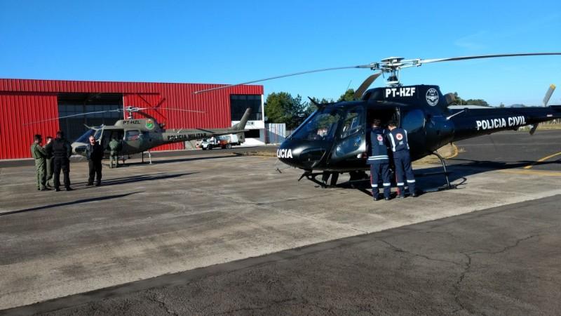 Operação conjunta do SAER, base Criciúma, e 5ª Cia do BAPM.