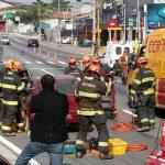 Simulação de trauma no trânsito. Foto: BRPAe SJC.
