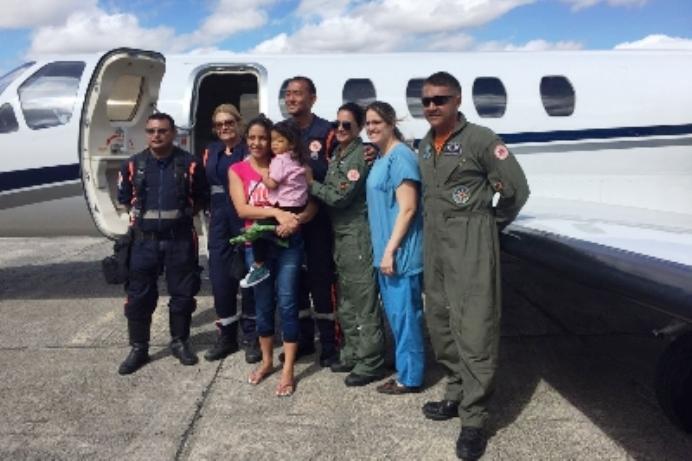 Ciopaer realiza transportes de pacientes para transplante de fígado