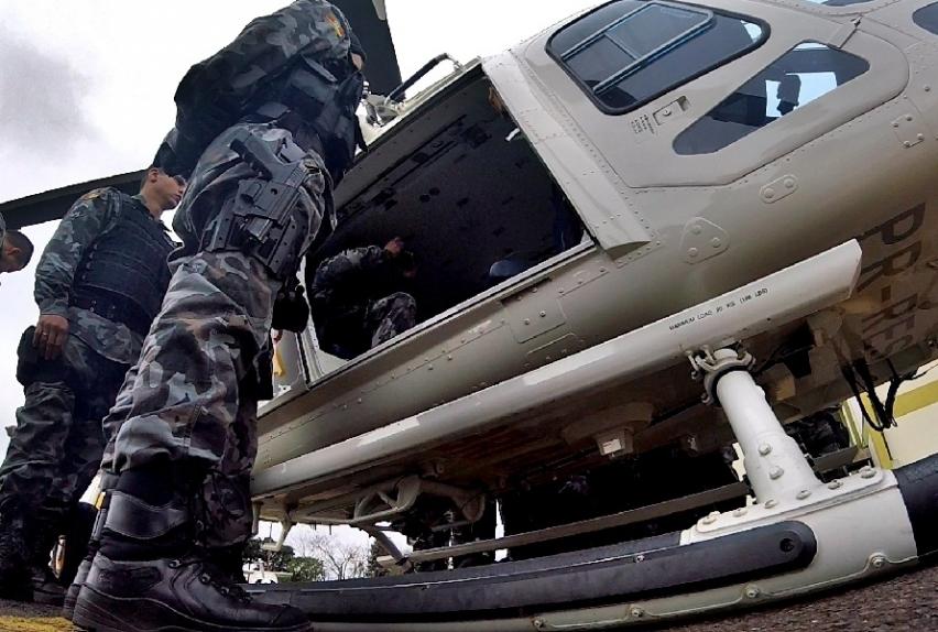 As aeronaves que rasgam o céu de Canoas são parte importantíssima do trabalho tático dessas forças de segurança no policiamento. Foto: Divulgação.