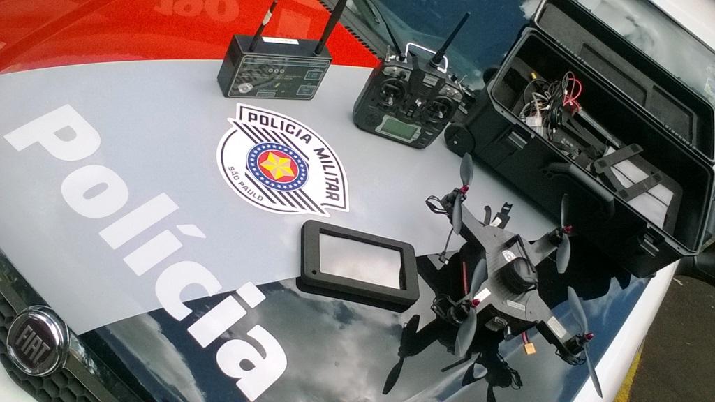 Drone utilizado pela Polícia Militar de São Paulo.