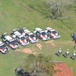 Ação contou com policiais da Força Tática, Rocam, Canil e do Helicóptero Águia (Foto: BRPAe Presidente Prudente/PM)