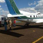 Bombeiro Militar de Costa Rica é transportado de avião para Campo Grande
