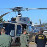 Policias Federais realizam treinamento de observador aéreo na 5ª CIA do BAPM de Lages. Foto: Divulgação Polícia Militar.