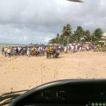 Helicópteros do GRAer são utilizados nas buscas das vítimas do naufrágio em Mar Grande. Foto: Divulgação.