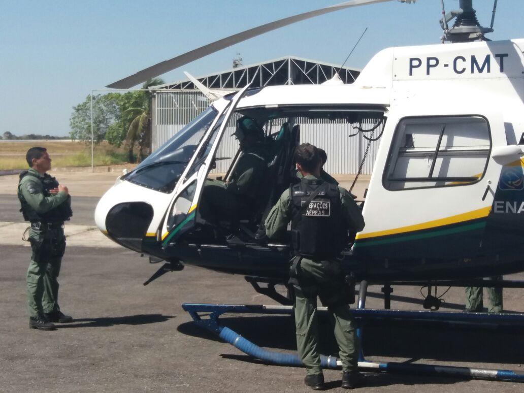 Rotatórias de Cuiabá terão heliponto para pousos de aeronaves do Ciopaer. Foto: Eduardo Alexandre Beni.