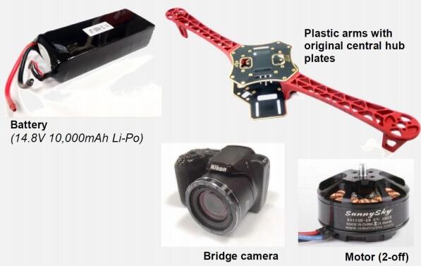 Figure 2: 4 kg class drone components