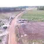 PM utiliza drones em reintegrações de posse no extremo sul baiano. Foto: Divulgação.