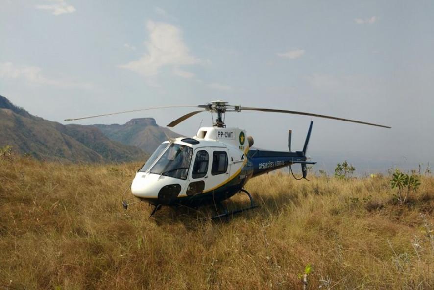 Ciopaer resgata idoso em área de difícil acesso em Chapada dos Guimarães