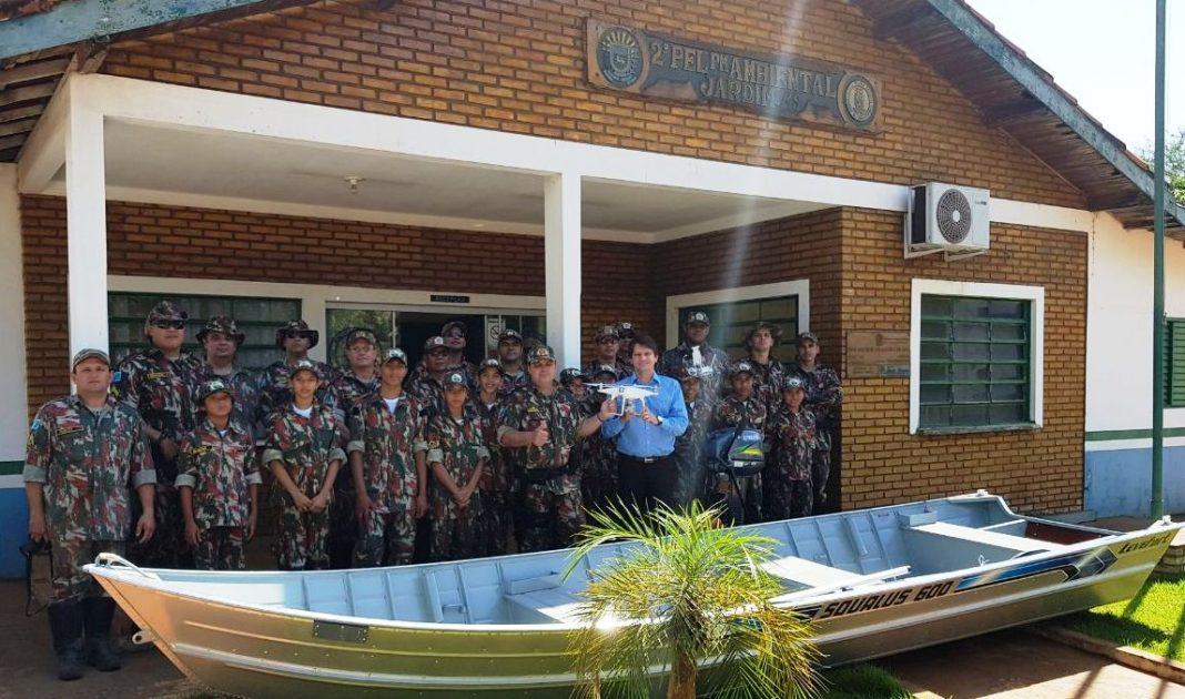 PM Ambiental de Jardim (MS) recebe do MPE drone para emprego em fiscalização.
