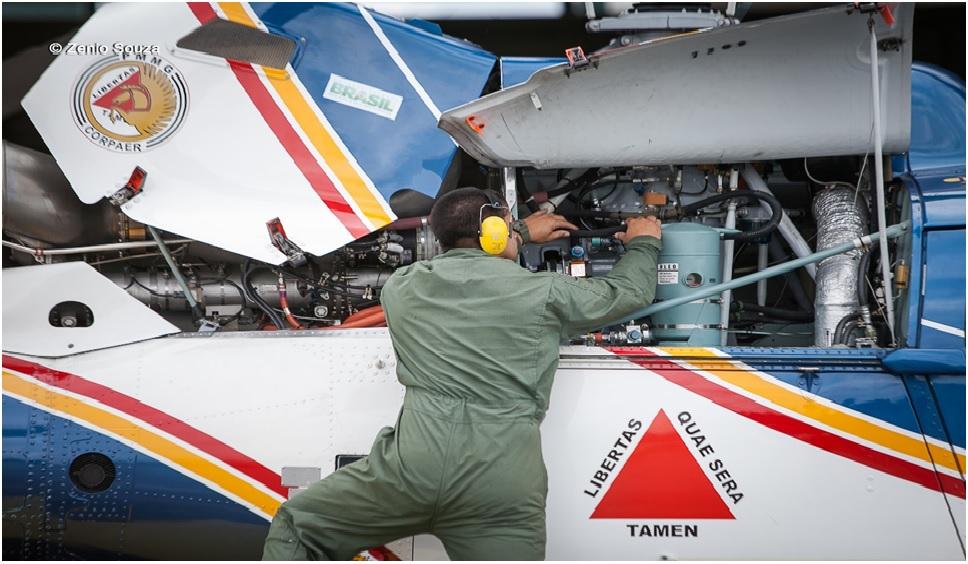 Inspeção realizada pela Seção de Manutenção de Aeronaves do Btl RpAer.