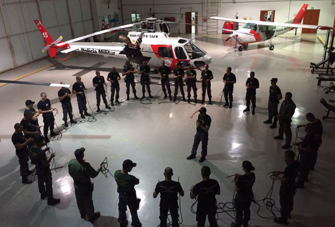 Curso de Tripulante Operacional da PM de São Paulo começa na Base de Radiopatrulha Aérea de Piracicaba. Foto: Divulgação.