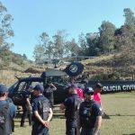 Agentes da Guarda Municipal fazem treinamento a bordo do helicóptero do SAER. Foto: Bred Oliveira/Divulgação/PMT