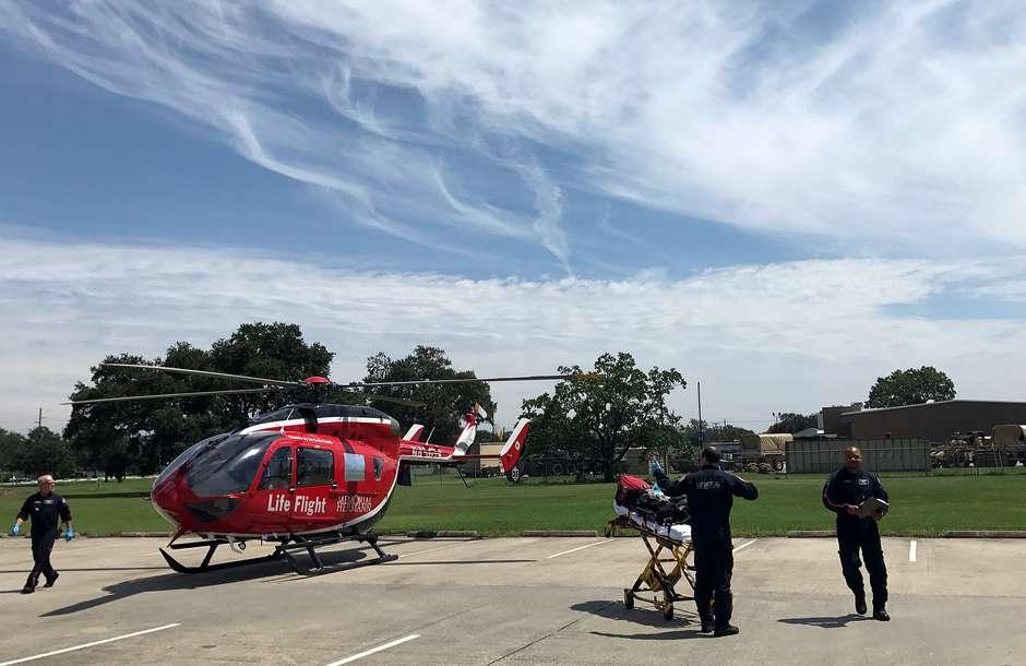 Helicóptero participa de resgate em hospital no sul do Texas 31/8/2017 REUTERS/Mica Rosenberg Foto: Reuters