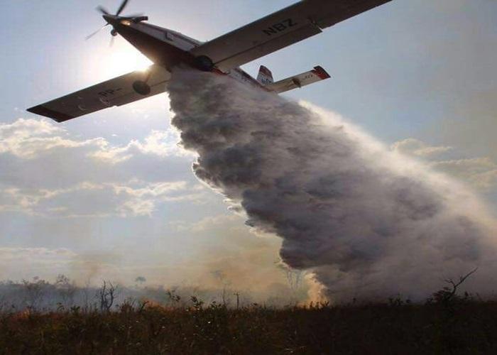 Nimbus, aeronave do Corpo de Bombeiros do DF, utilizada no combate a incêndios (Foto: CBMDF/Divulgação)