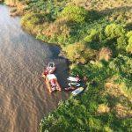 Homens foram parar na margem da cidade de Guaíba, a cerca de oito quilômetros da orla da Capital. Polícia Civil / Divulgação