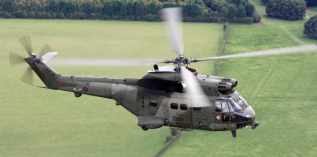 O helicóptero Puma Mk2 é usado pela RAF e pode voar a velocidades de até 167 nós.