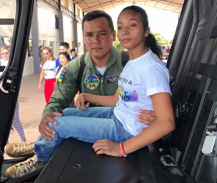 Crianças com deficiência visitam Grupamento Tático Aéreo do Amapá