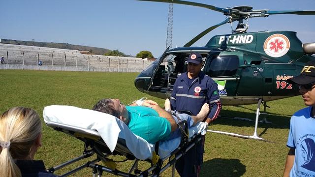 Francisco Petrini embarcou no helicóptero pouco depois das 14 horas de quinta-feira, 1. (Luiz Guilherme Bannwart)