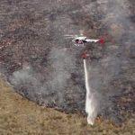 Incêndio florestal na serra da Bocaina atingiu o entorno da Estação Ecológica Bananal. (Imagem: GloboPlay.)