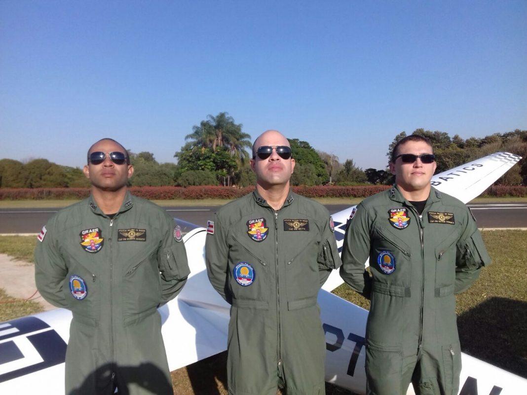 Da Esquerda para direita: Cap PM Vicente Augusto, Cap PM Mutti, Cap PM Victor Fonseca