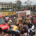 Bombeiros socorrem vítimas de colisão de ônibus com trem em Duque de Caxias. Foto: Divulgação GOA.