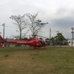 """Helicóptero """"Bombeiro 04"""" do Grupamento de Operações Aéreas (GOA) do Corpo de Bombeiros. Foto: Divulgação GOA."""