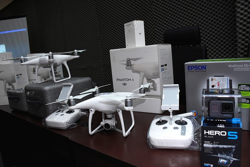 Polícia Civil do Amazonas recebe equipamentos e drones e cria Núcleo de Aeronaves Remotamente Pilotadas. Foto: ERLON RODRIGUES