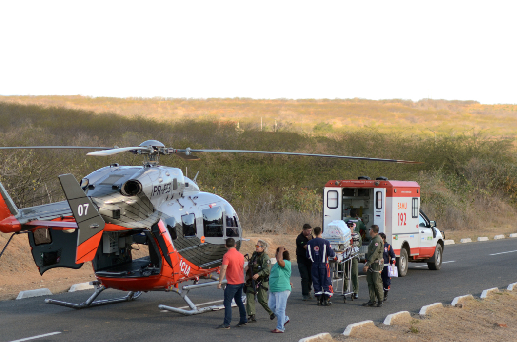 Aeronave da Ciopaer transporta recém-nascido de Cedro para Fortaleza.
