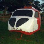 VW Fusca recebeu as cores da Polícia Militar (Foto: Polícia Militar/Cedida)