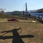 GAM apoia INEA e Corpo de Bombeiros no combate a incêndio no Parque Estadual da Serra da Concórdia