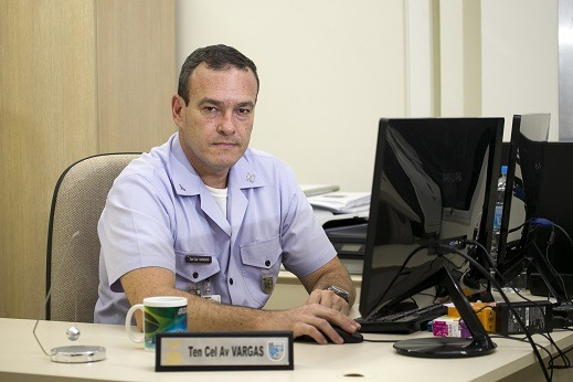 Tenente-Coronel Vargas, do DECEA/Foto: Sgt Johnson Barros