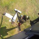 Operação de resgate de acidente, realizada pela aeronave H-36 Caracal