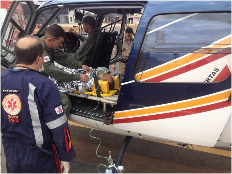 Pegasus 07 resgata vítima de acidente de trânsito na BR-251
