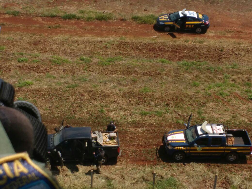 Maconha estava em caminhonete de luxo - Foto: Divulgação/PRF