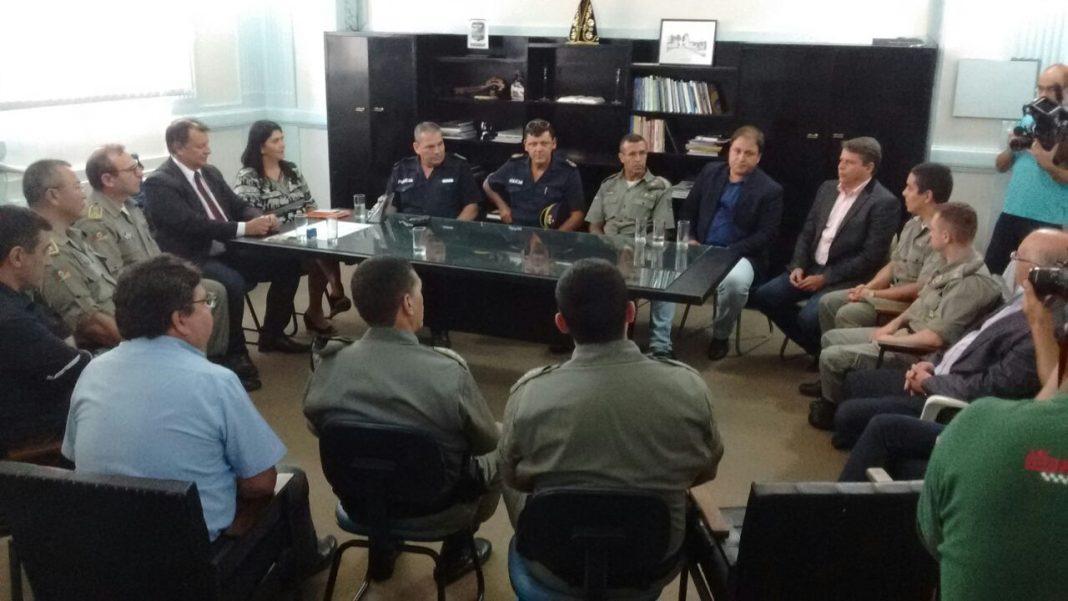 Comandante-geral da BM, Andreis Dal'Lago, se reuniu com o chefe de Policía de Rivera, Wilfredo Rodríguez - Foto: Divulgação/BM