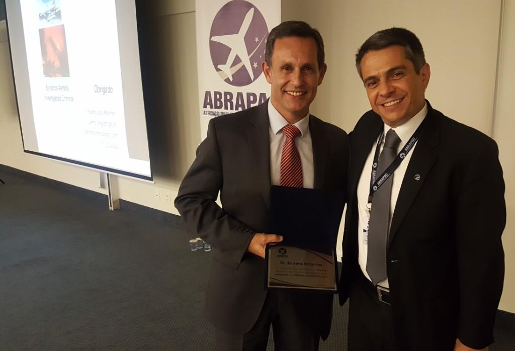 Dr. Rubens Maleiner e cmte. Rodrigo Bertacini, da ABRAPAC