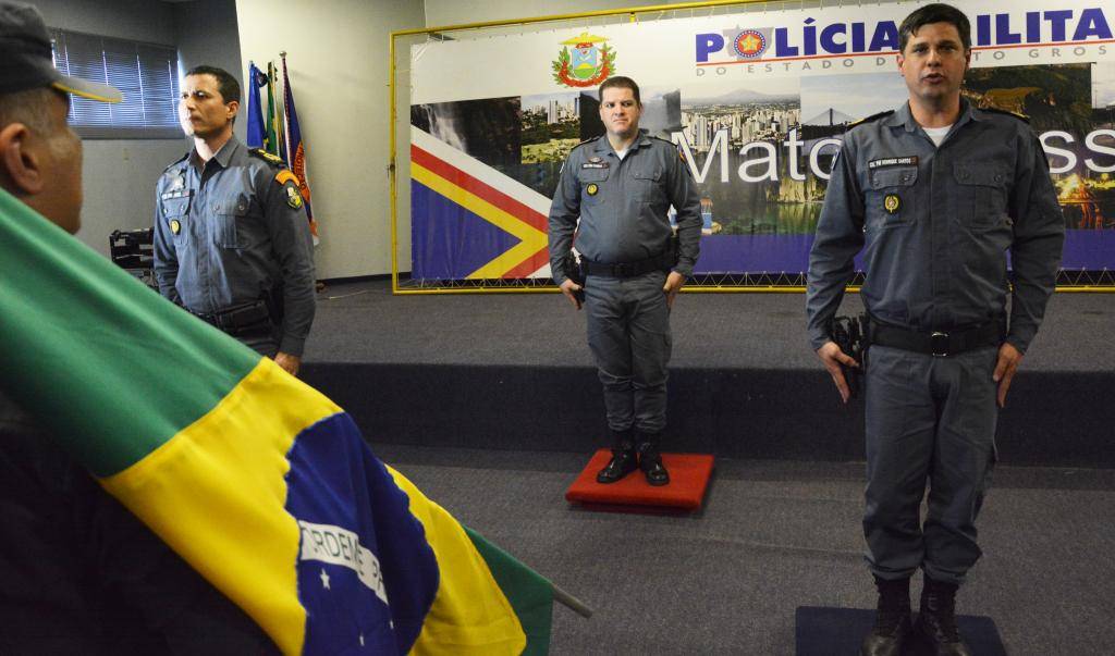 Troca Sub Chefia do Estado Maior PM. Foto: SD Elias/CCSMI-PMMT