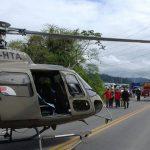 Resgate de criança vítima de acidente automobilístico na SC 413 em Jaraguá do Sul. Foto: BAPM – PMSC.