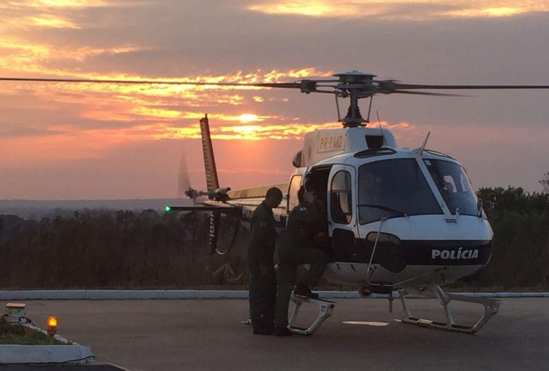 PMDF envia aeronaves para apoiar combate a incêndio na Chapada dos Veadeiros