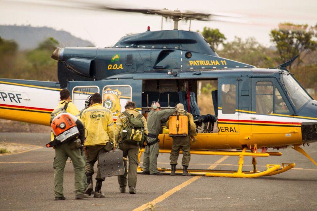 Bell Helicopter 412EP - PP-PRF - Patrulha 11 - Polícia Rodoviária Federal usado na missão.