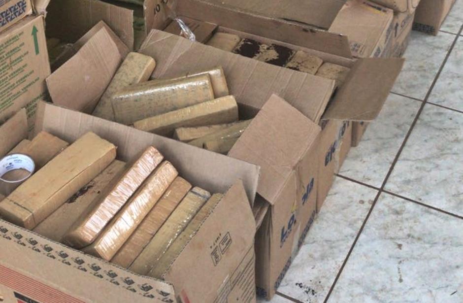 Drogas apreendidas pelo Graer em Aparecida de Goiânia. (Foto: Polícia Militar)
