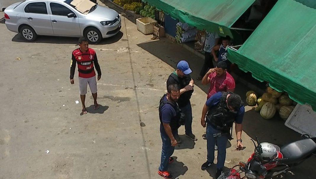 Prisão ocorreu perto da feira do Mutirão (Foto: Divulgação/Secom)