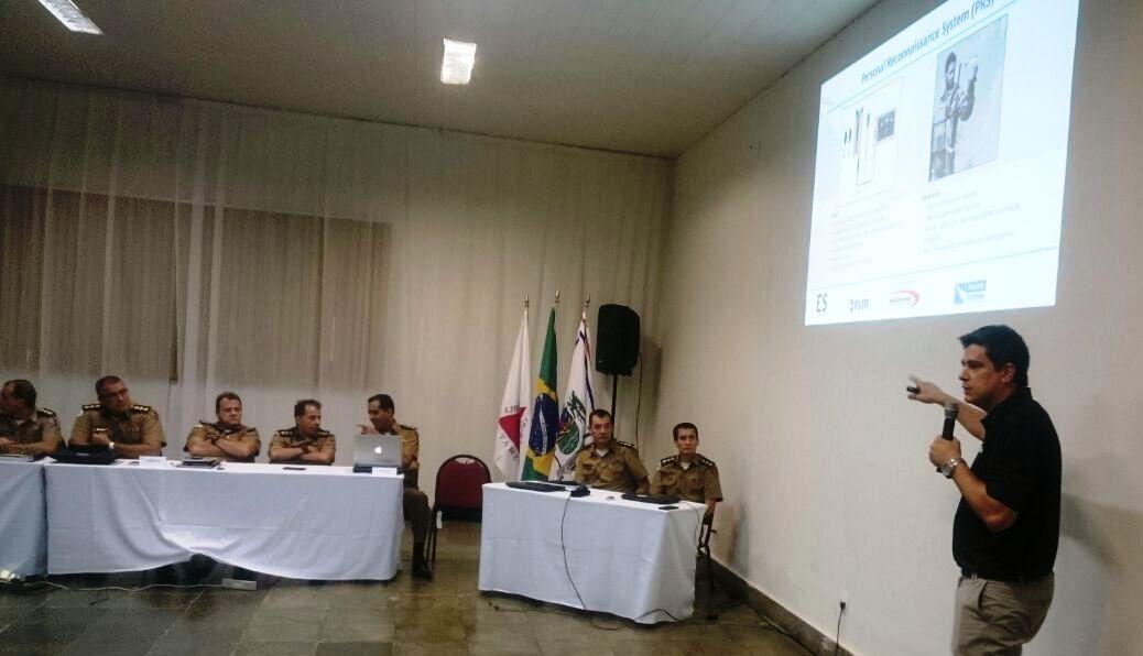 Apresentação na reunião de comandantes da PMMG.