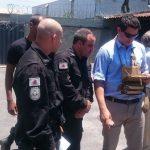 Especialistas da Polícia Militar testam o nano drone Black Hornet