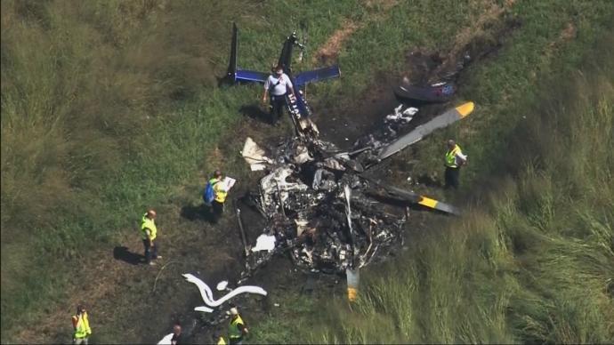 O helicóptero duque caiu em um campo no condado de Perquimans perto de Belvidere. (Foto / AP)