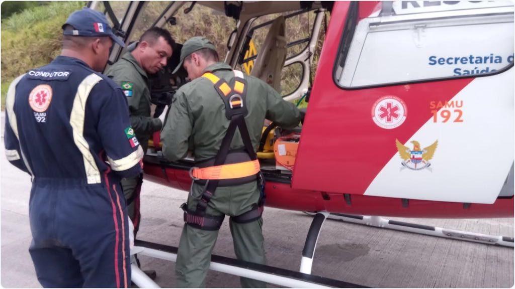 Grupamento Aéreo realiza socorro de vítima de capotamento em Novo Lino